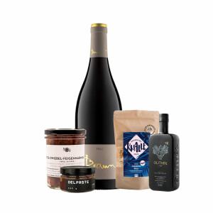 Feinkost Geschenkbox mit Wein